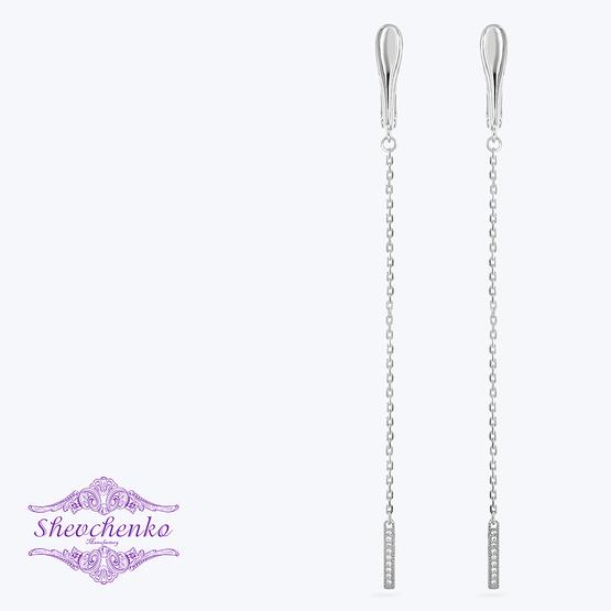 Сережки срібні висячі арт. 773